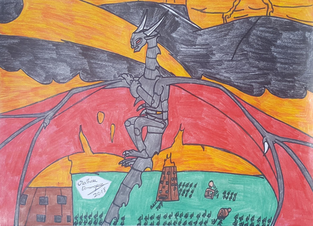 Le Dragon de Mort a la bataille de Vrandmorg by dragoonbeyblade