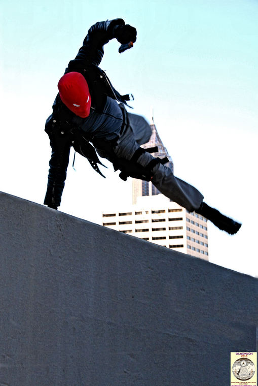 Red Hood Rooftop Chase...