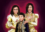 Family Portrait Digital Painting
