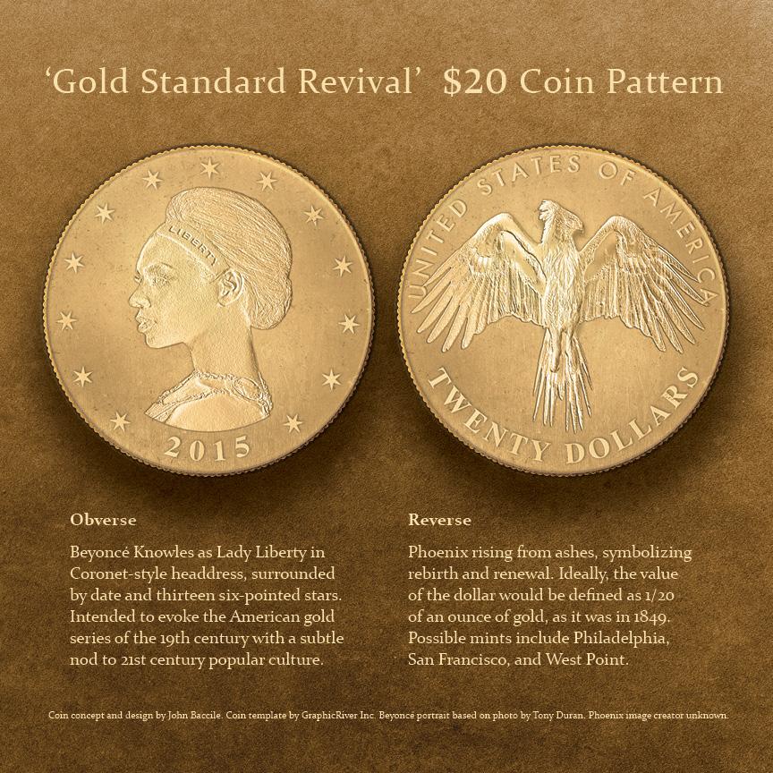 Beyonce $20 Gold Pattern by solderingironofjusti