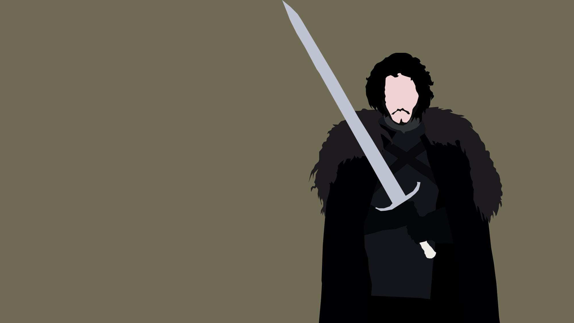 Game Of Thrones Minimalist Wallpaper: Jon Snow From Game Of Thrones By Reverendtundra On DeviantArt