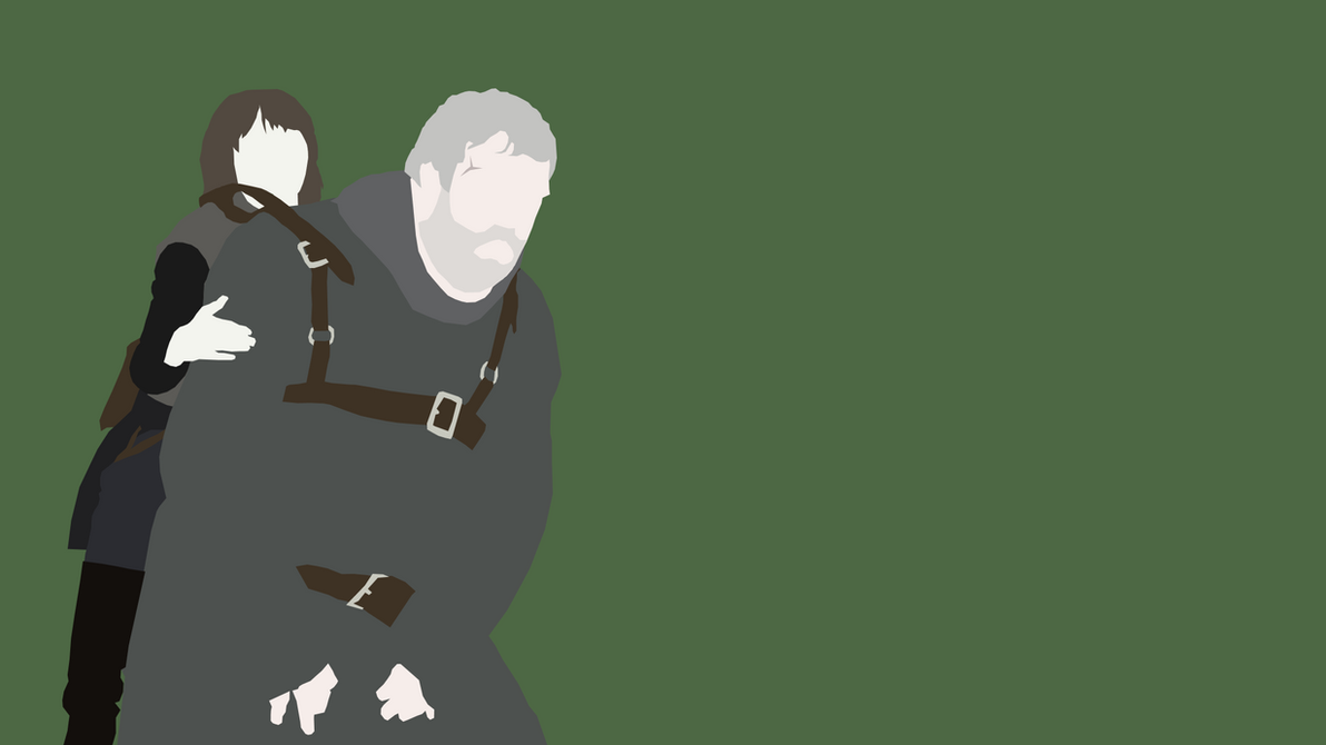 Game Of Thrones Minimalist Wallpaper: Bran And Hodor From Game Of Thrones By Reverendtundra On