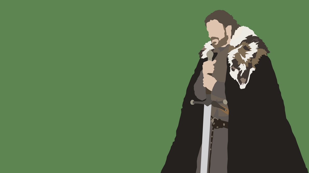 Game Of Thrones Minimalist Wallpaper: Lord Eddard 'Ned' Stark From Game Of Thrones By