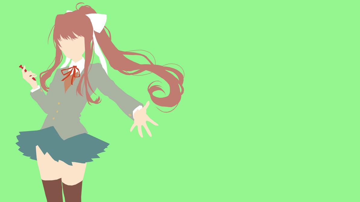 Monika from Doki Doki Literature Club by Reverendtundra