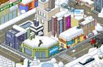 Snow Isometric Pixel Art