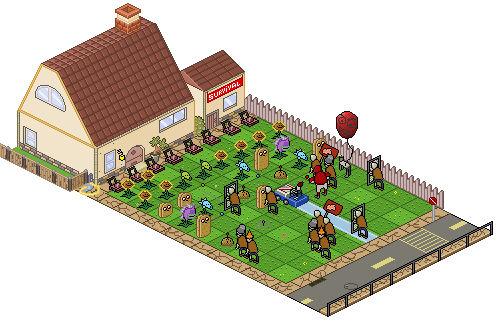Isometric Plants vs Zombies (pixel version)