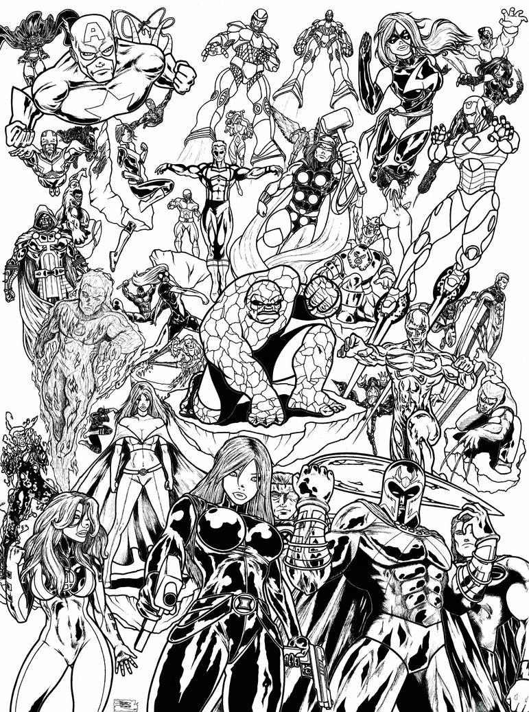 MARVEL SUPERHEROES by Ahmed-Benfares on DeviantArt
