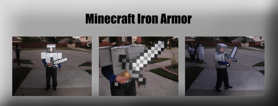 Minecraft Iron Armor Costume by Dragongirl9888