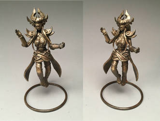Bronze Syndra Sculpture by Dragongirl9888