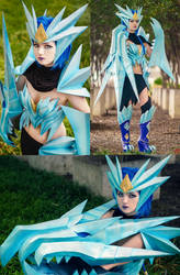 Ice Drake Shyvana cosplay by Dragongirl9888