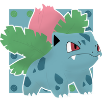 Ivysaur #002 by BadlyDrawnPokemon