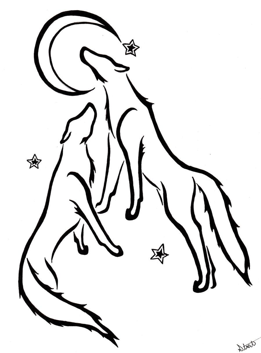 Wolf Mates Drawing
