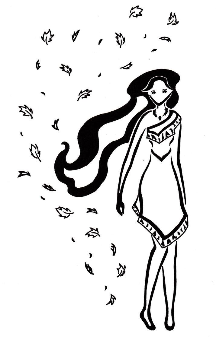 Pocahontas tribal tatt. by Zanture-Angel