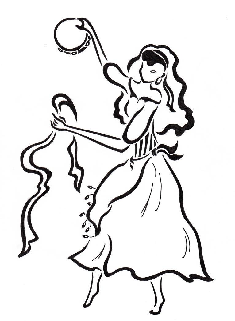 Esmeralda, dark hair, works with a goat. by Zanture-Angel