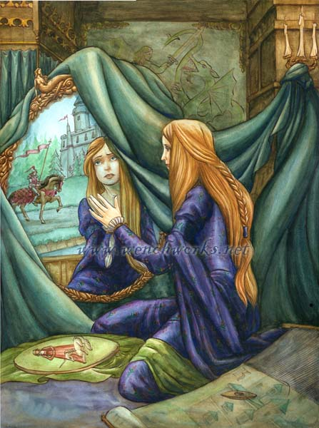 for some purpose the lady of shalott