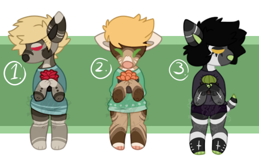 Anthro Adopts (Auction CLOSED) by HimeAdoptions