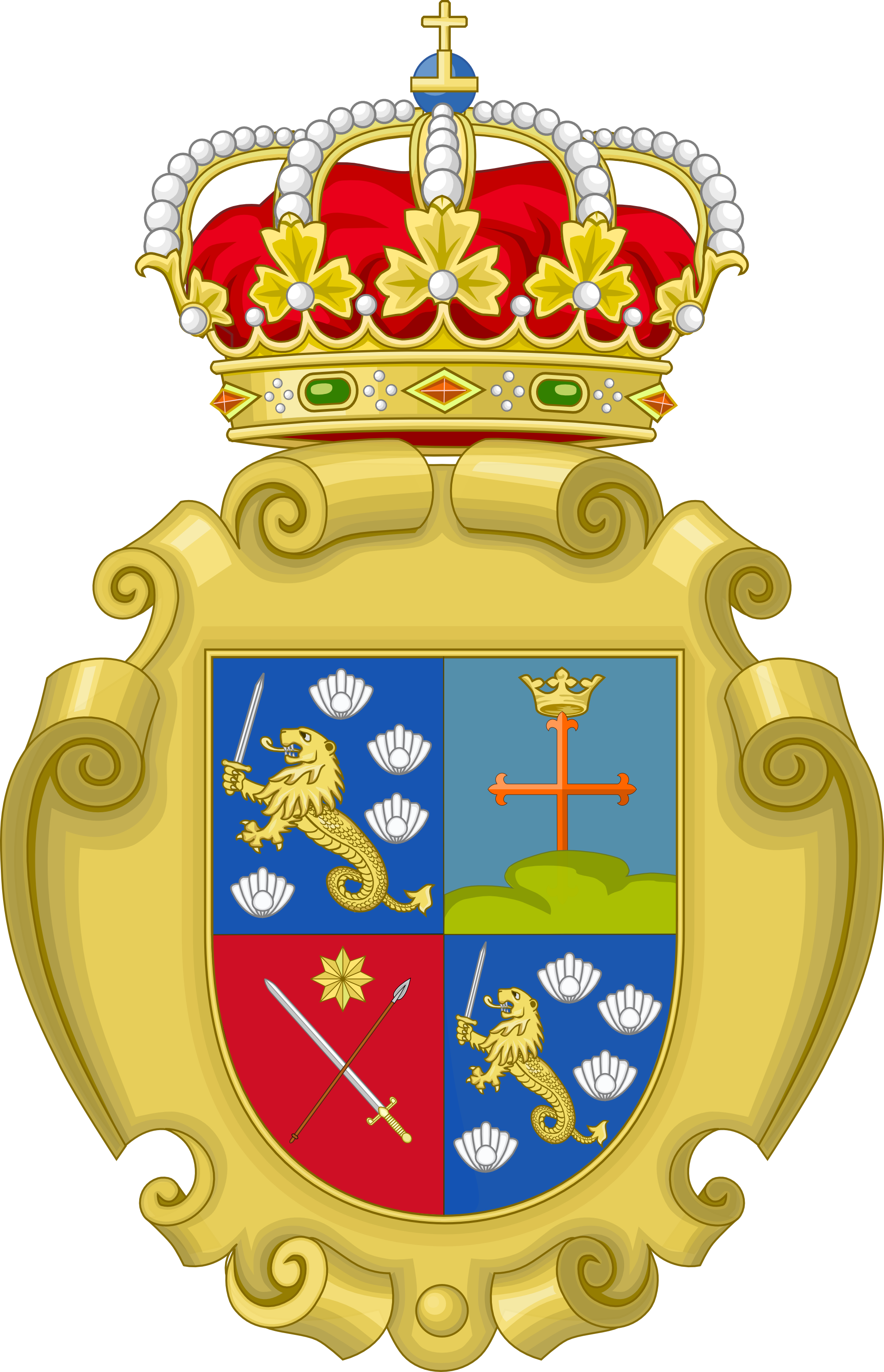 Coat of Arms of Spanish Philippines by IEPH on DeviantArt