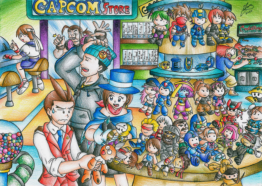 Capcom Store by Ian-the-Hedgehog