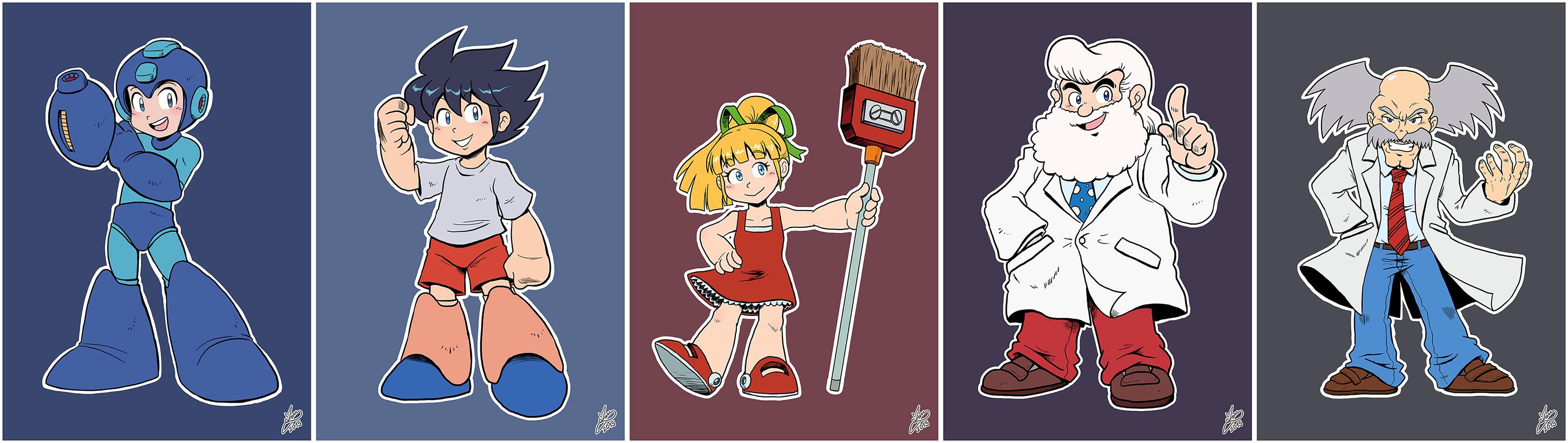 Daily Rockman - Rockman 1 Characters by IanDimas