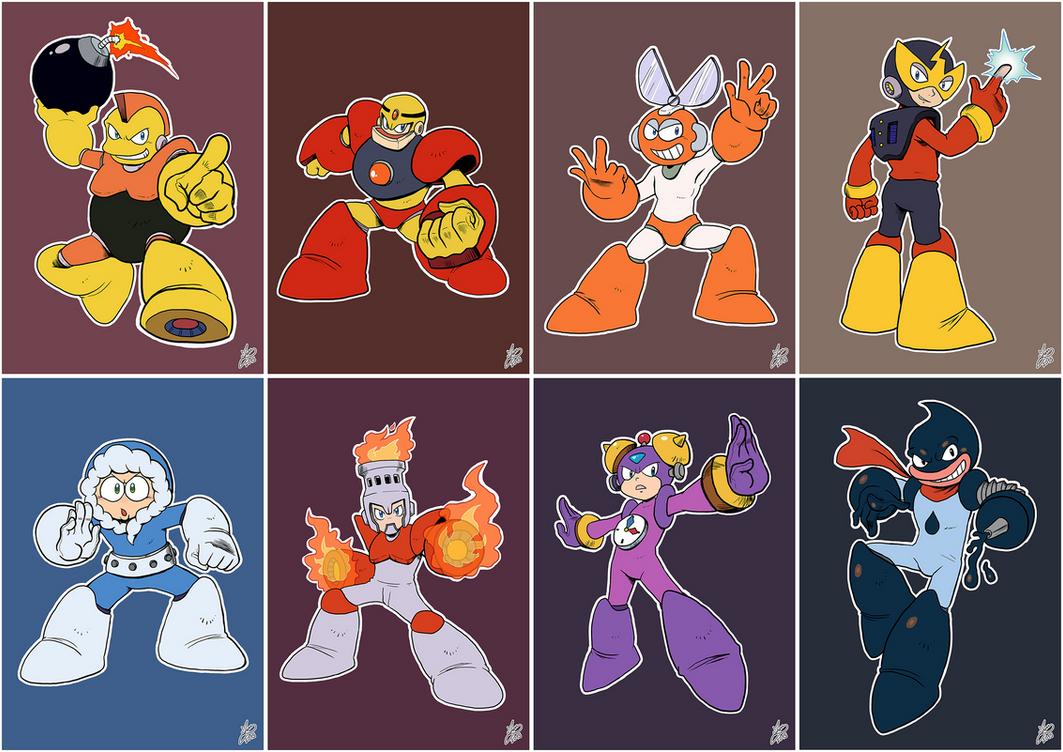 Daily Rockman - Rockman 1 Robot Masters by IanDimas