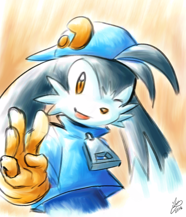 Klonoa on Krita by IanDimas