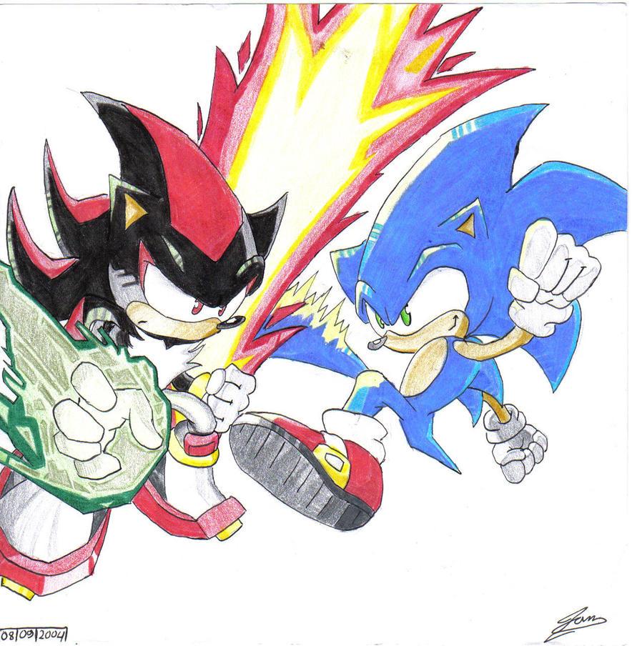 Sonic VS Shadow by IanDimas on DeviantArt