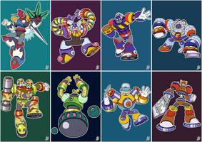 Daily Rockman - Rockman 8 Robot Masters by IanDimas