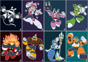 Daily Rockman - Rockman 9 Robot Masters by IanDimas