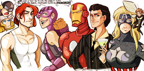 marvel - avengers flipped by spoonybards