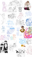 final fantasy - sketchdump by spoonybards