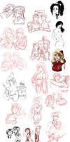 final fantasy - sketchdump 3 by spoonybards