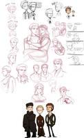 brothers karamazov -sketchdump by spoonybards