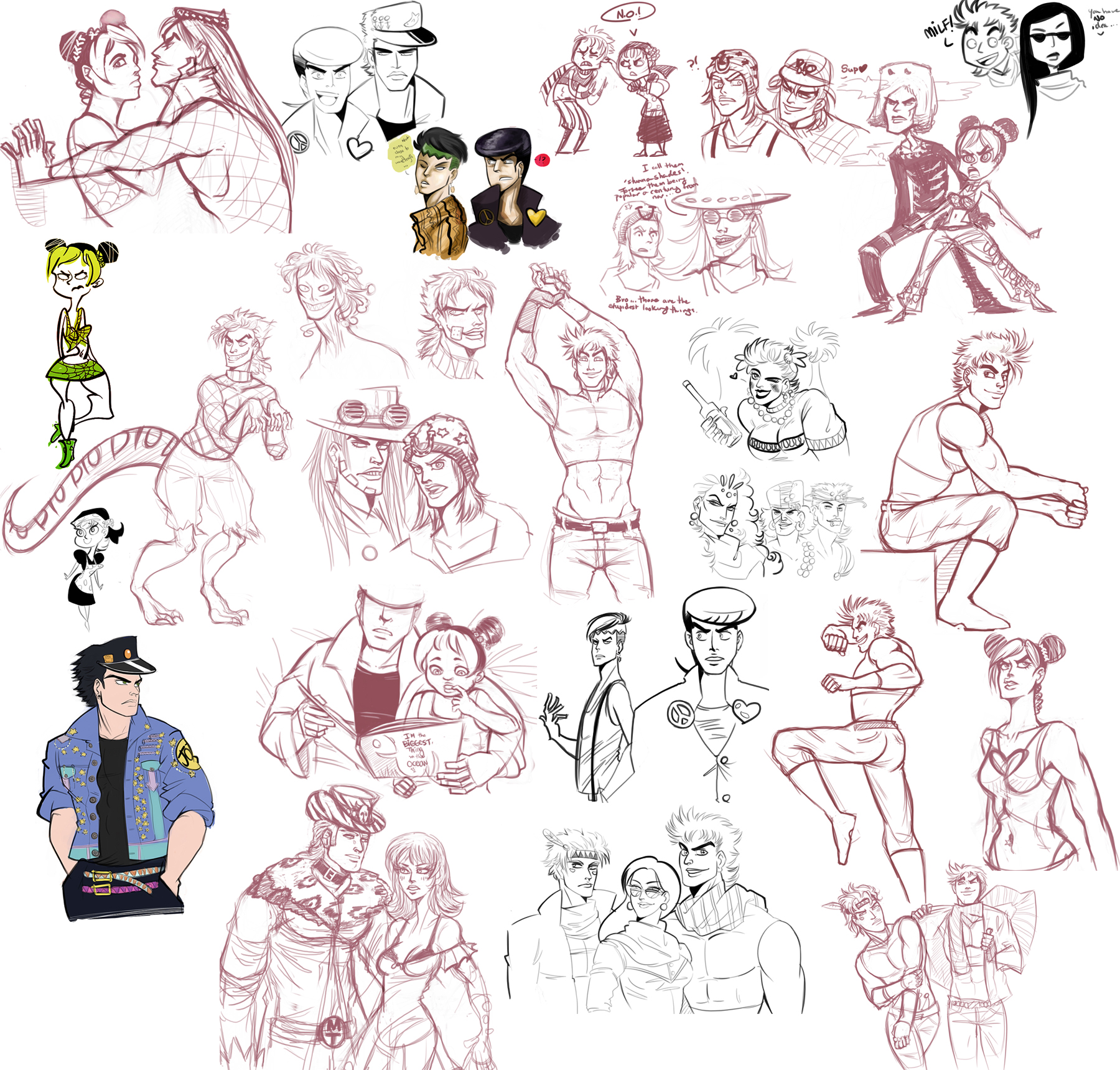 jojo - sketchdump by spoonybards