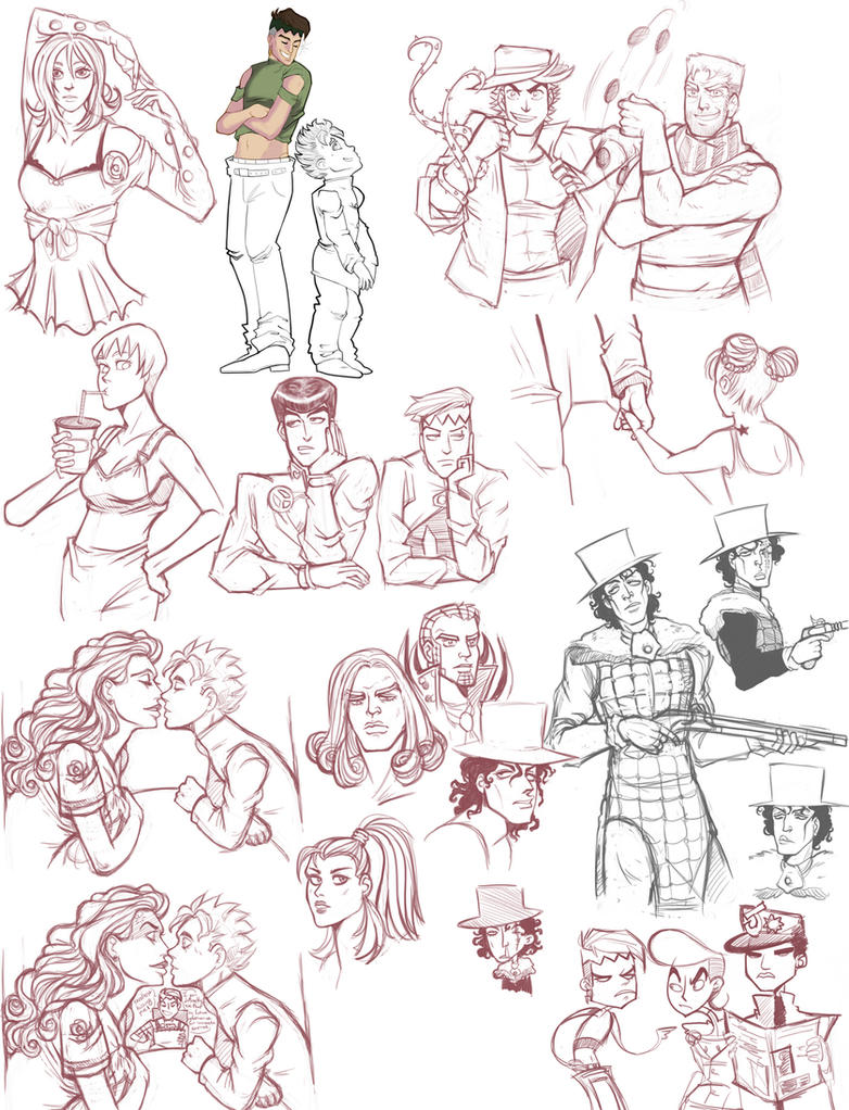 jojo - sketchdump 3 by spoonybards
