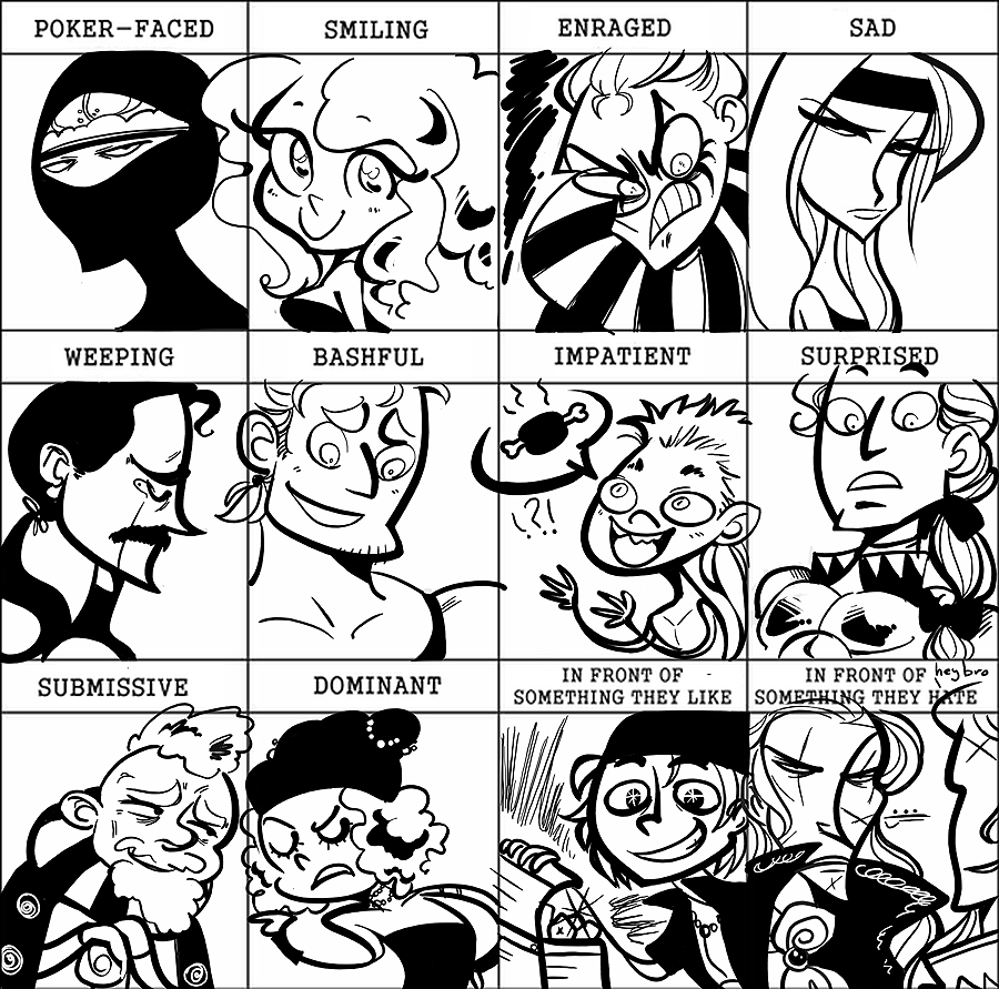 Ffvi Expression Meme By Spoonybards On DeviantArt - Hairstyle drawing meme