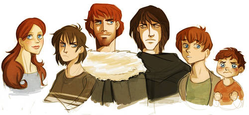 asoiaf - starks by spoonybards