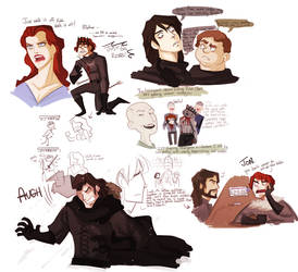 asoiaf - doodles2 by spoonybards