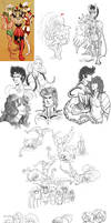 saint seiya - sketchdump by spoonybards