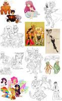 sketchdump 4 by spoonybards
