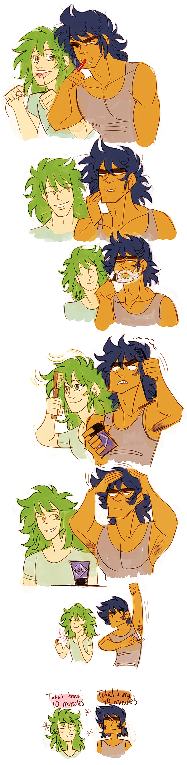 saint seiya - morning routine by spoonybards
