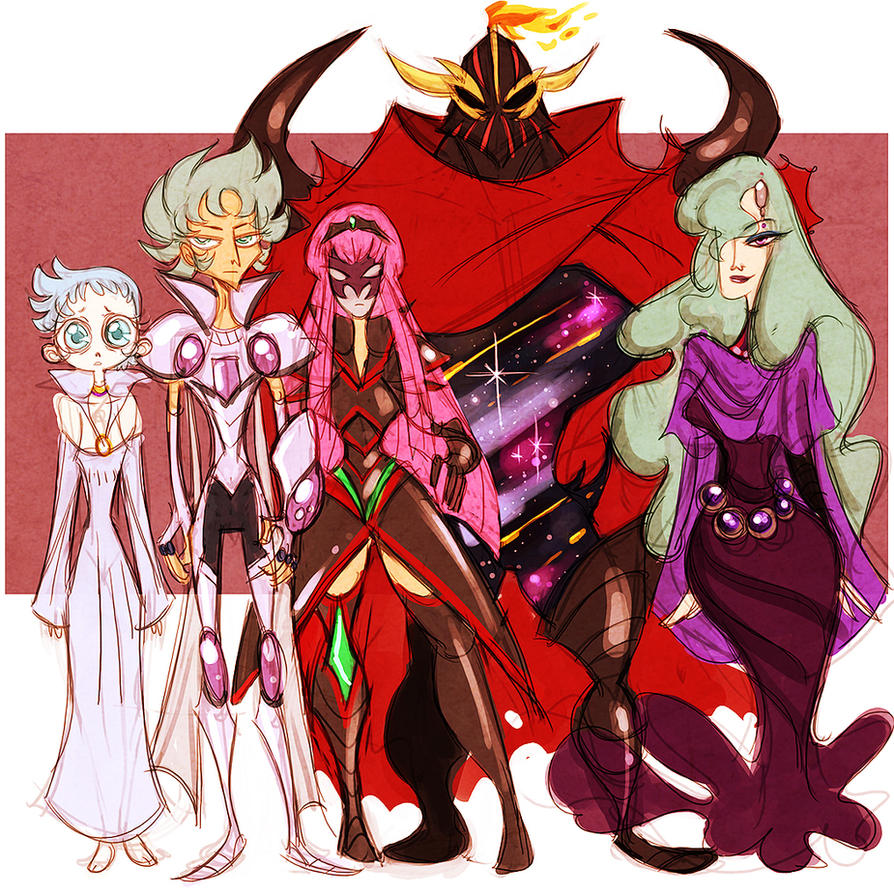 saint seiya omega - martian family by spoonybards