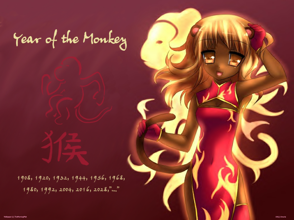 cool monkey wallpapers. Year of the Monkey Wallpaper by ~TheMorningMist on deviantART