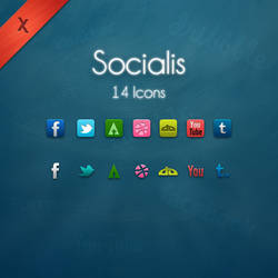 Socialis - 14 Icons - PSD by xeloader