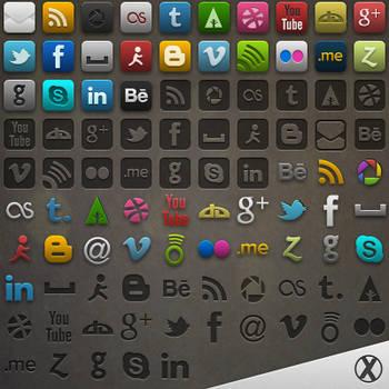 Socialis 3 - PSD and Cutouts by xeloader