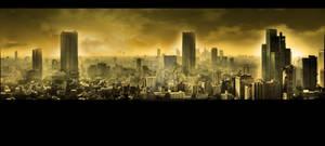 Nuclear city. Apocalypse