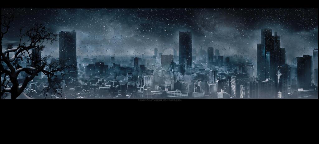 Night winter. Apocalypse by LadyElenaNaylor