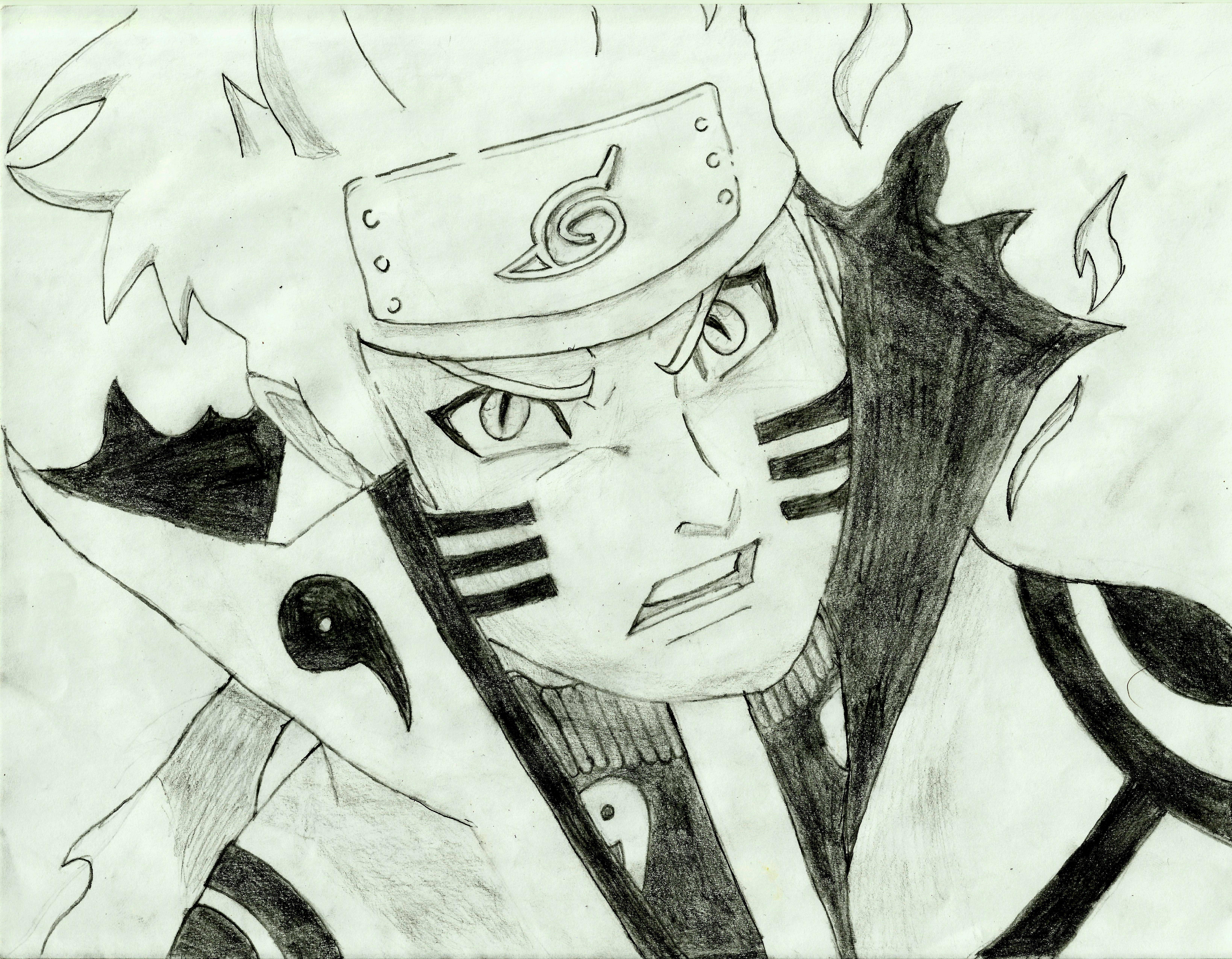 Naruto Bijuu Mode/Kurama mode by UndeadDrath on DeviantArt
