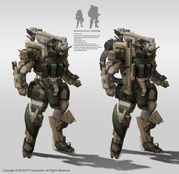 Infantry mecha by StTheo