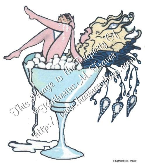 Fairy Bath in Martini Glass by Katrina1944