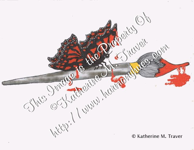 Paint Brush and Butterfly by Katrina1944